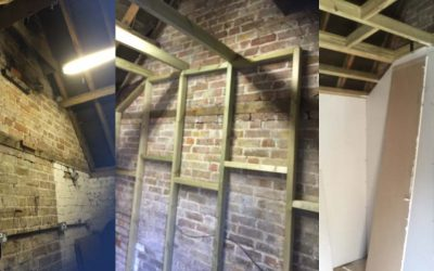 Project: turning an outbuilding into an office