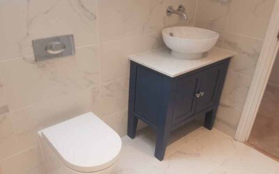 New build ensuite bathroom within larger project in Buntingford